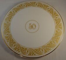 Royal Worcester Gilded Cake Gateau Stand Plate 50th VGC
