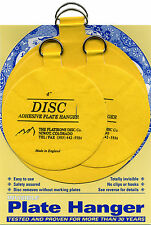 "Disc Adhesive Plate Hangers Large Assorted Set of 2x4"" and 2x5.5"""