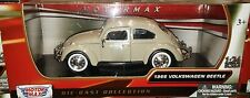 1966 VW Bug Volkswagen Beetle Die-cast Car 1:24 Motormax 6.5 inch Biege Tan