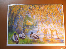 5 quality blank greeting cards The weeping willow  NEW in cello