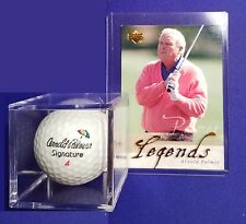 ARNOLD PALMER SIGNAATURE GOLF BALL & HIS 2001 UD LEGEND CARD UNIT