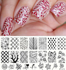 BORN PRETTY Nail Art Stamp Plate Forest Pattern Trees Image Template BP-L015