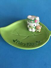 NEW VINTAGE CERAMIC SANRIO HELLO KITTY FAIRY KITTY GREEN LEAF DISH RING HOLDER