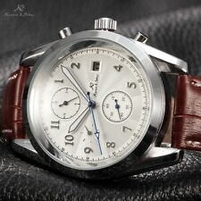 KS Men's Sub Second Hand Dial Day Date Month Self-Winding Mechanical Wrist Watch