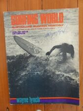 SURFING WORLD MAGAZINE MAG SURF VOL10 #6 JUNE 1968  COLLECTABLE SIGNED BY WAYNE