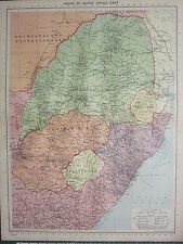 1940 MAP ~ UNION OF SOUTH AFRICA EAST ~ ORANGE FREE STATE SWAZILAND TRANSVAAL