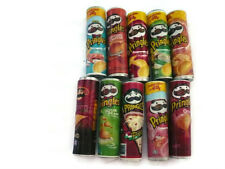10 Pringles Packets Dollhouse Miniatures Food Snacks Diffenent
