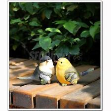 2 Resin LOVE birds Statue Figurine Model home garden desk decor ornament gift