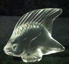 Lalique Clear Frosted Fish