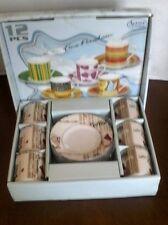Alpine Cuisin Fine Porcelain Design Italy #6592 Espresso Mini Cup & Saucer 2 OZ