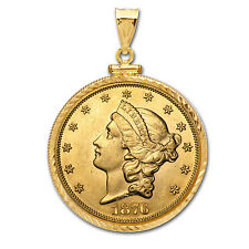 $20 Liberty Gold Double Eagle Pendant (Diamond-ScrewTop Bezel) - SKU# 63485