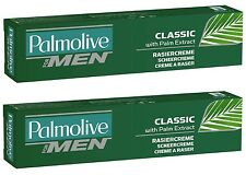 (32,70€/L) 2x 100 ml Palmolive Rasiercreme for Men Classic Shave Cream **NEW