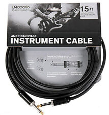 PLANET WAVES PW-AMSG-15  AMERICAN STAGE 15' INSTRUMENT CABLE, NEW, FREE US SHIP