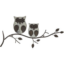 "22"" Owl Metal & Wood Wall Decor. Piece Of Art"