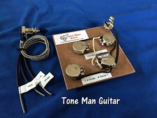 50's Wiring Harness For Gibson 3 Pickup Les Paul Long Shaft Pots PIO Tone Cap