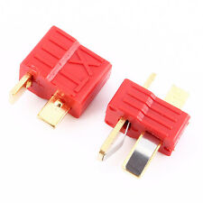 1 Pair Deans T-Style Connector Plugs Female & Male For RC LiPo Battery ESC Motor