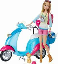 Barbie Pink Passport Travel Doll with Scooter Playset