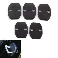 5x Door Lock Safety Protective Trim Cover Striker Kit for Jeep Wrangler 2008-15