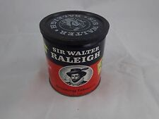 Vintage Sir Walter Raleigh Metal 7 oz Tobacco Can Tin Nice Empty with Lid
