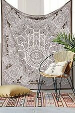 Queen Fatima Hand Hamsa Tapestry Wall Hanging Bedspread Bohemian Throw Decor Art