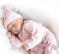 "22"" Sleeping Girl Baby Reborn Doll Lifelike Vinyl Real Life like silicone Vinyl"