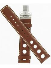 "Tissot 20mm Brown Leather Strap Circle Cut-Outs Watch Band ""T600013240"""