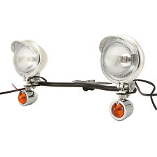 Driving Passing Lights Turn Signals Black Light Bar Set for Honda Cruisers