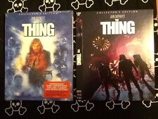THE THING DELUXE LIMITED EDITION BLU-RAY, SCREAM FACTORY W/ 2 POSTERS & 2 SLIPS!