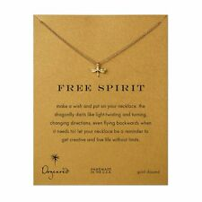 "Dogeared Free Spirit Dragonfly Gold Dipped 16"" Reminder Necklace"