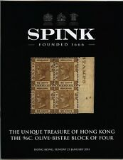 HONG KONG, The 96c. Olive-Bistre Block of Four, auction catalogue 2011