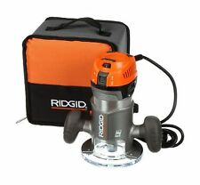 RIDGID 2 HP Corded Fixed Base Router Variable Speed Woodworking Powerful Tool
