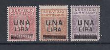 SERVIZIO COMMISSIONI 1925 CIFRA IN UN CERCHIO SOPRASTAMPATI G.I MNH** FRESCHI CC