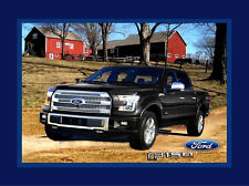 """FORD F-150 TRUCK TOUGH / SCENIC  100% COTTON FABRIC PANEL 35""""x44""""  FORD MOTOR CO"""