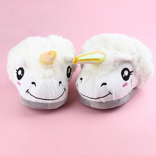 New Arrival Women Home Slipper White Unicorn plush indoor slippers US