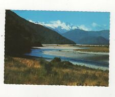 View Mt Hooker From Haast Pass Highway Plain Back Card New Zealand 582a
