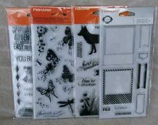 Fiskars Set Of 4 Clear Stamp Sets ~ NEW