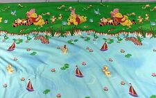 WINNIE THE POOH Flat Sheet DISNEY HOME Twin TIGGER Piglet DUCKS ON A POND Fabric