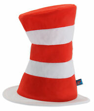 Dr Seuss Cat In The Hat Adult Red & White Striped Costume Economy Hat Licensed