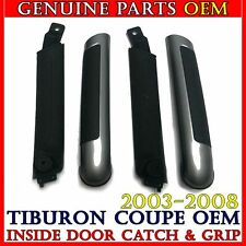 Silver Inside Door Handle Grip + Inner Grip SET Hyundai 2003-2008 Tiburon Coupe