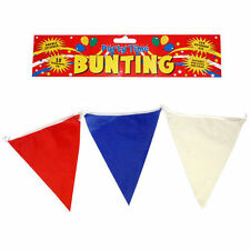 Red White & Blue Bunting 7 Meters/23 Foot USA French Union Jack GB Colours Party