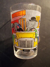 Verre BABAR 1970 Eléphant verre à moutarde modèle 2 voiture automobile !