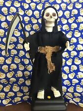 Halloween Factory Gemmy Animated Grim Reaper Skeleton & Scythe Button Activated