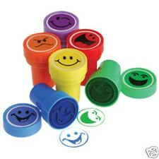12 Smiley Face Stampers Stamp Party Goody Bag Filler Favor Kid Art Craft Supply