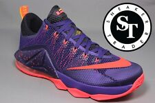 NIKE LEBRON XII 12 LOW 724557-565 RAPTORS COURT PURPLE BRIGHT CRIMSON SIZE: 12