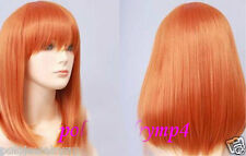 UKJF201 charming medium orange straight Health hair wig  wigs for women
