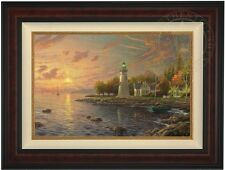 "Thomas Kinkade Serenity Cove 18"" x 27"" LE Gallery Proof Canvas (Burl Frame)"