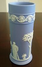 "Blue White JASPERWARE WEDGWOOD England  VASE 6-1/2"" MYTHOLOGY GREEK SCENE"