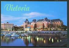 EMPRESS HOTEL AND WATERFRONT AT DUSK, VICTORIA, BC, CANADA *
