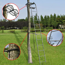 15' Deluxe Hunting Ladder Stand Tree Stand Safety Harness Archery Deer TreeStand