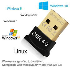 UK Version V4.0 USB Bluetooth Dongle Wireless Adapter EDR For PC Win 7 8 10 XP